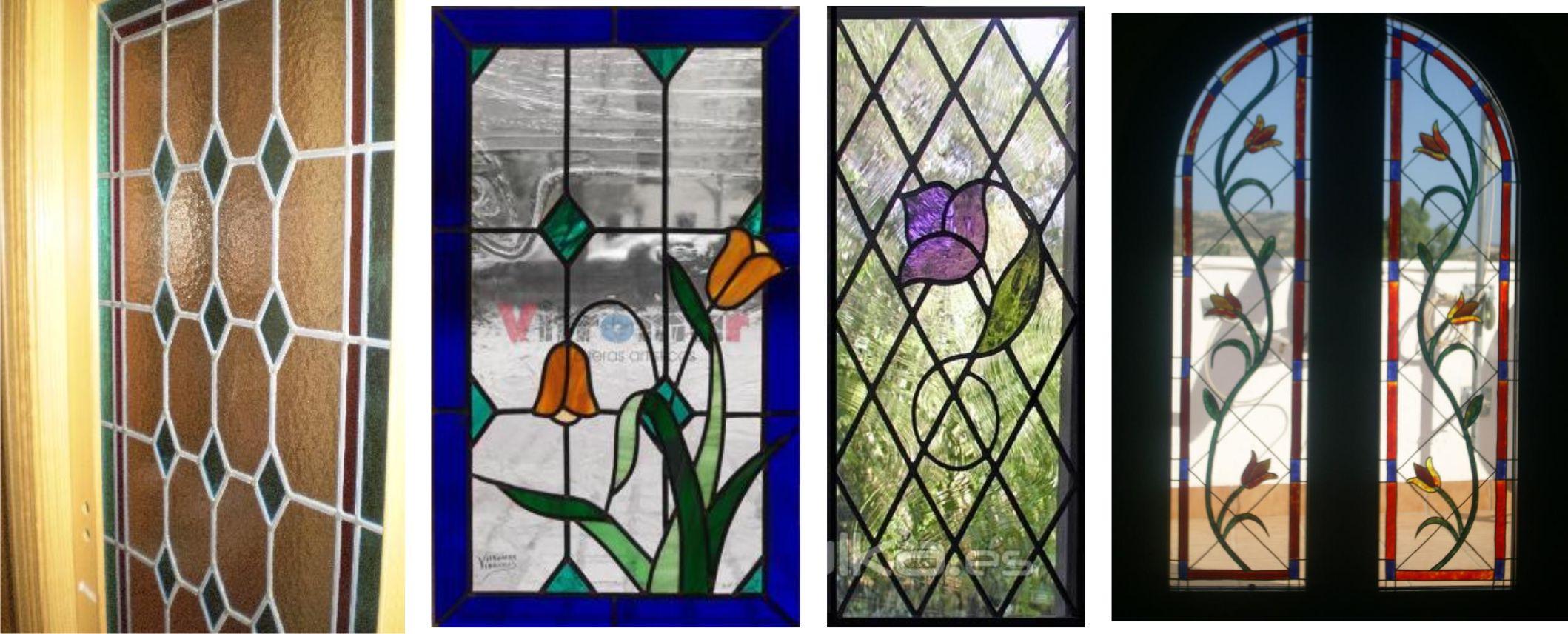 Vidrieras para ventanas great snow flakes vinilos for Puertas con vidrieras decorativas